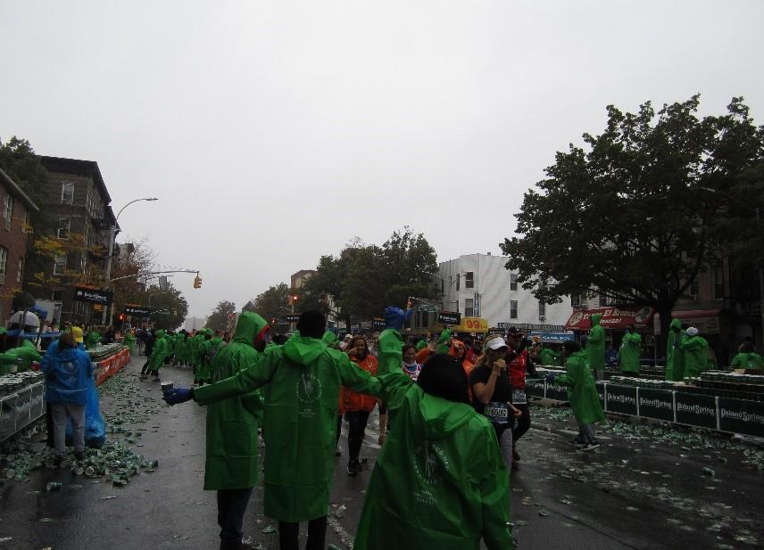 CETUSA volunteers clean up the water cups