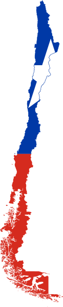 chile flag map
